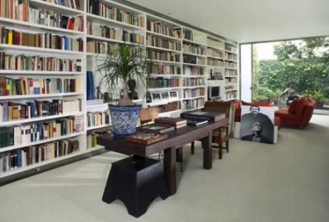 Aspecto de la biblioteca de Gabriel García Márquez (foto: Héctor Velasco)