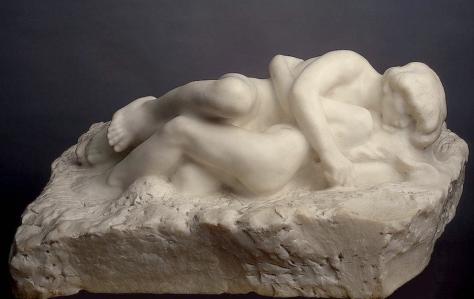 Escultura: Cupido y Psyche, por Auguste Rodin,