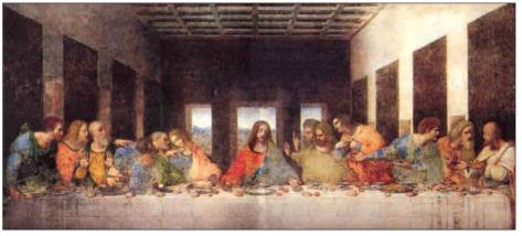 La última cena, de Leonardo