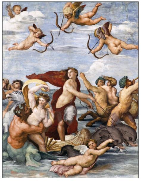 El triunfo de Galatea, de Rafael