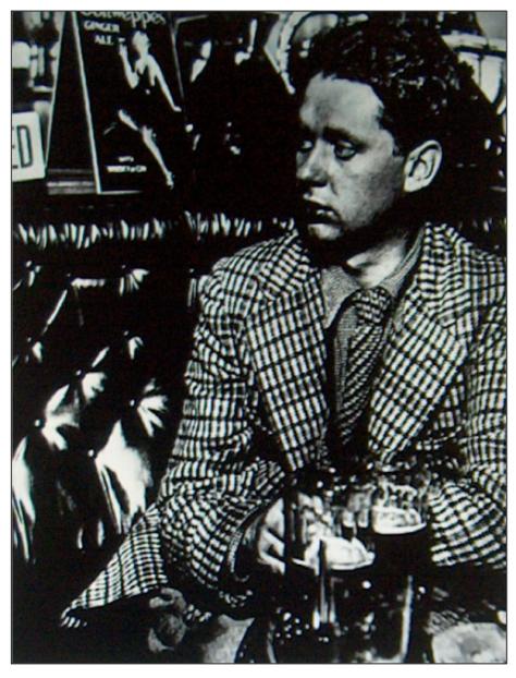 El poeta galés Dylan Thomas