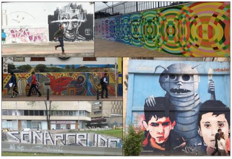 Graffiti en las calles de Bogotá. Foto: Julia Santibáñez