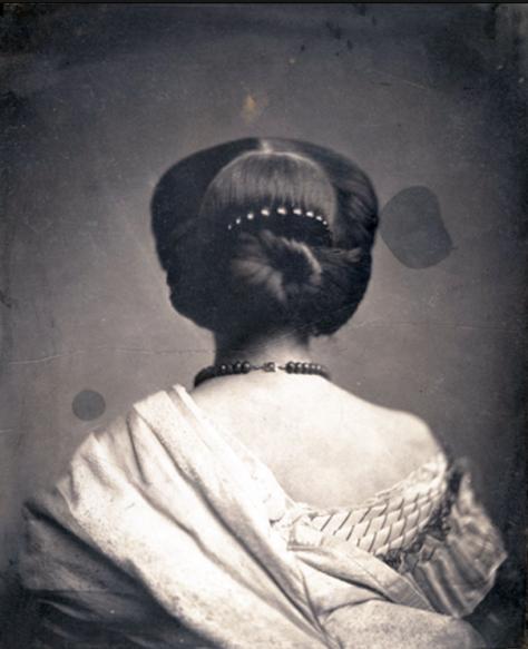 """Fotografía: Onésipe Aguado, """"Mujer vista de espaldas"""", 1862. The Metropolitan Museum of Art"""