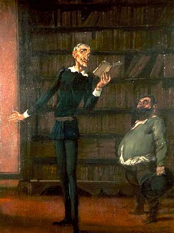 Imagen: Antonio de la Gándara, La Déclamation de Don Quichotte à Sancho Panza, c. 1912
