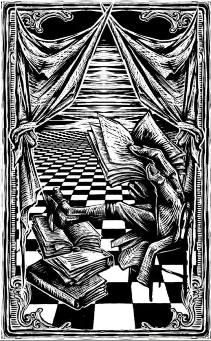 Imagen: Grabado en madera del artista mexicano Eko, para ilustrar edición del Quijote hecha por Restless Books