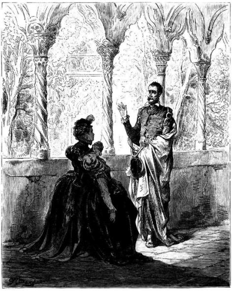 Altisidora y don Quijote, por Gustav Doré