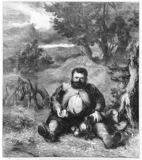 Sancho Panza, por J. Gilbert (1860)