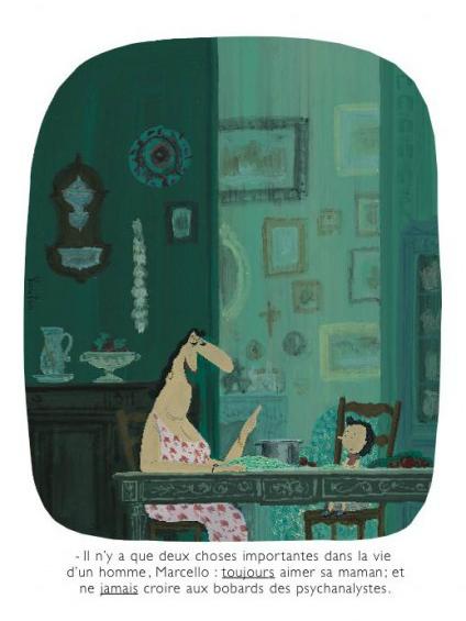 """Cartón: Voutch www.voutch.com """"Sólo hay dos cosas importantes, hijito: SIEMPRE amar a mamá y NUNCA creer las tonterías de los psicoanalistas""""."""
