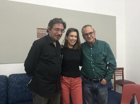 Con Manuel Pérez Petit, editor y colega presentador, y con Pablo D'Ors