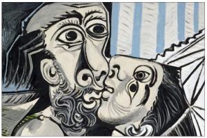 """Imagen: """"El beso"""", de Pablo Picasso (1969)"""